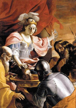 Mattia - Queen Tomyris Receiving the Head of Cyrus, King of Persia - 1670-72 Mattia Preti [Public domain], via Wikimedia Commons