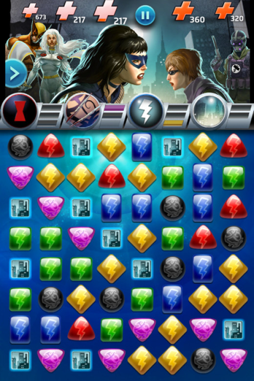 Marvel Puzzle Quest Game Board