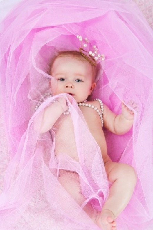 We know this baby is a girl, because of all the pink…. right??