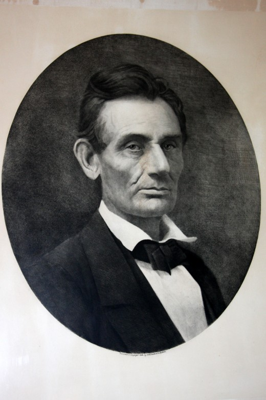 Lincoln Portrait by Samuel Montague Fassett c. 1859