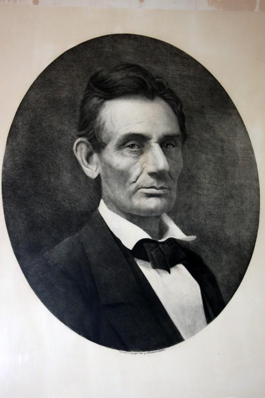 Lincoln Portrait by Samuel Montague Fassett c. 1859
