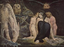 Hecate or the Three Fates by William Blake. You can see the Owl is represented here.