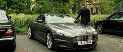 "Daniel Craig as James Bond and his Aston Martin DBS in ""Casino Royal""."