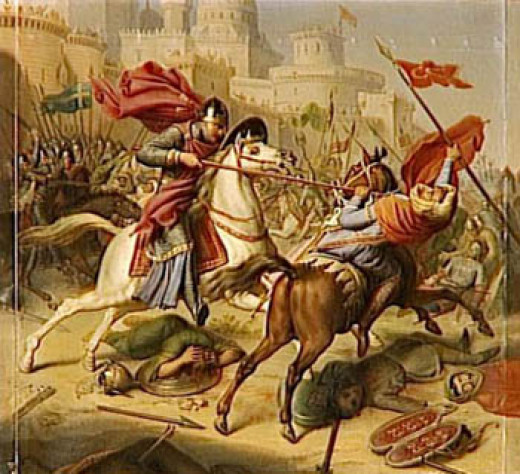 Robert at Antioch - his generalship in the First Crusade was questionable. Although physically brave and able in battle his earlier successes did not bear out his mediocre performance as leader in the Holy Land