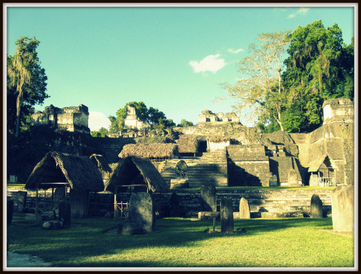 Afternoon in the plaza at Tikal