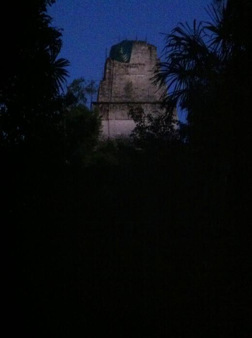 Tikal at night