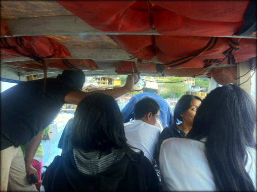 Packed into the lancha on the way to the lakeside village of San Pedro.