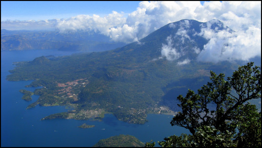 The view from the top of Volcan San Pedro.