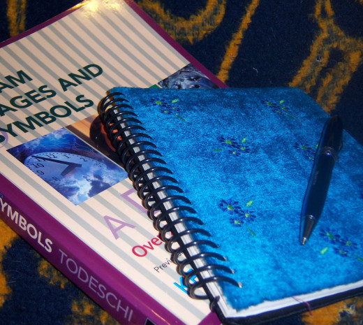 Recording your dreams in a journal can help you remember the symbols clearly enough to find out what they mean in a dream journal and to you on a personal level.