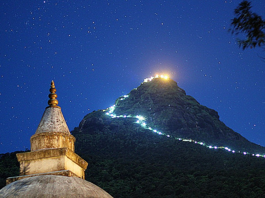 Adam's Peak at night