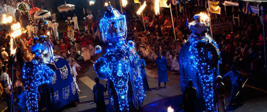 Kandy Esala Perahera held annually in tribute of The Buddha
