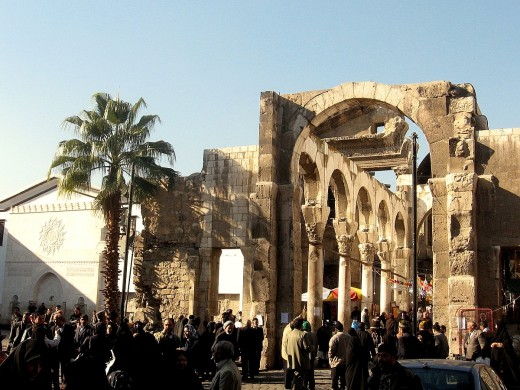 The Jupiter temple in Damascus.