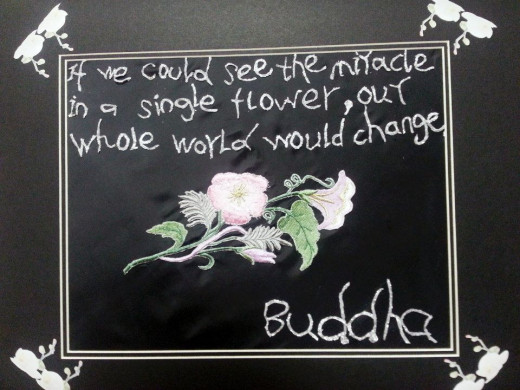 Buddha's Words---creation out of those inspirational words