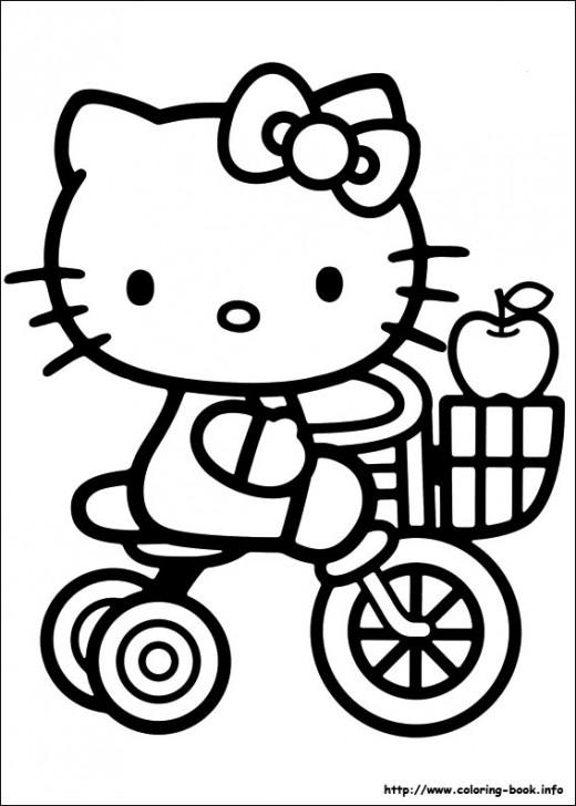 Hello Kitty On Her Bik
