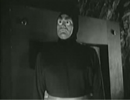 An alien from the movie Killers From Space (1954)