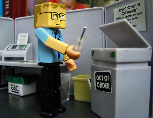 Even toy copiers are out of order sometimes.