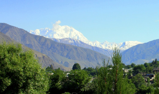 Mount Tirich Mir, as seen from Chitral.