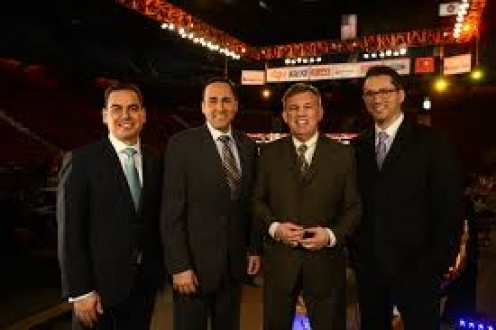The FNF team from left to right. Bernardo Osuna, Joe Tessitore, Teddy Atlas and Todd Grisham. What a great team of boxing guys.