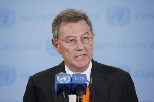 Robert Serry, who was met with armed pro-Russian protestors, is a member of the United Nations and primarily involved in Middle Eastern developments.