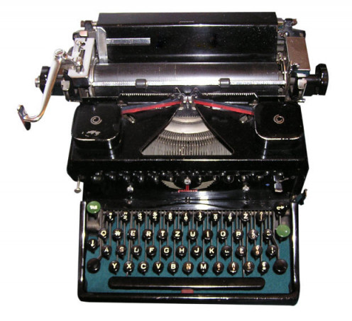 Use the old typewriter