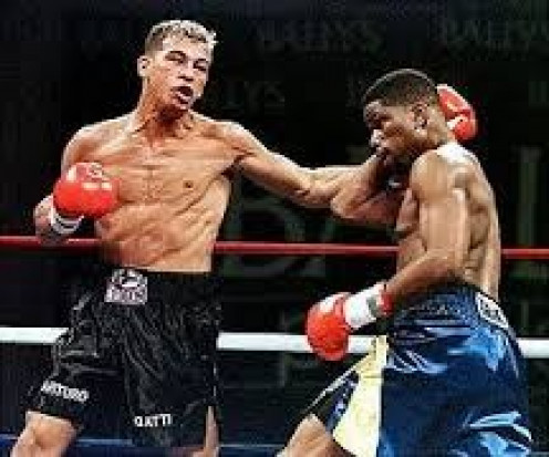 Arturo Gatti, seen on left fighting Ivan Robinson, fought on the Boxing series and he always had fans cheering him on.