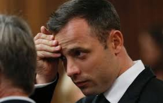 Day 4 Oscar Pistorius in court towards the end of the afternoon