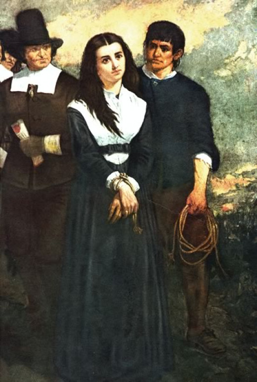 A depiction of the Salem witch trials