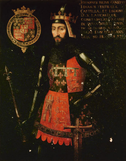 John of Gaunt was the third surviving son of Edward III.