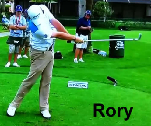 Rory: A fan captured photo shows the perfect release of Rory McIlroy