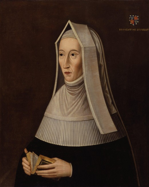 The pious Lady Margaret at prayer