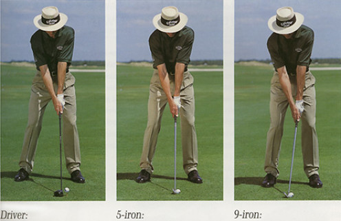 David Leadbetter: the world renowned instructor demonstrating that the distance between the elbows does not vary