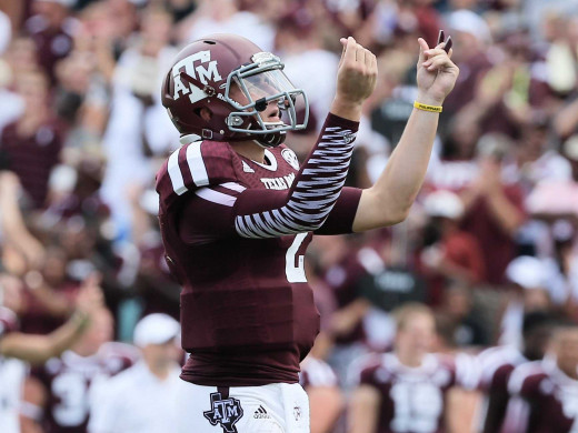 Former Aggies QB Johnny Manziel looks to be a top five pick in this draft