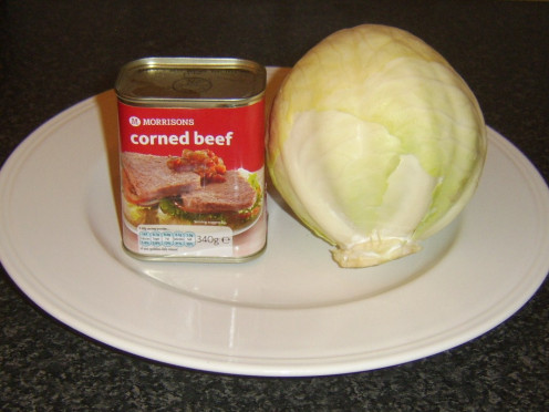 Canned corned beef and cabbage