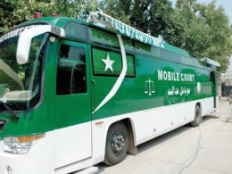 Mobile courts have been launched by the sitting provincial government. These are expected tp provide speedy justice.