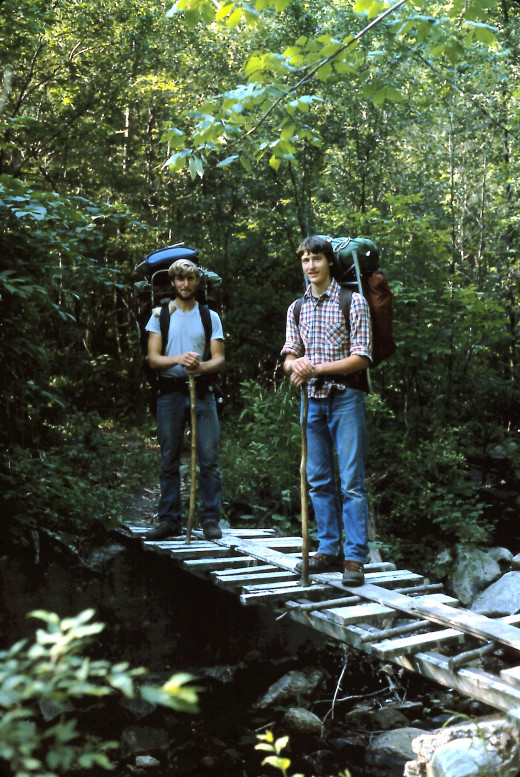 We trudged across a footbridge and headed towards Vermont.