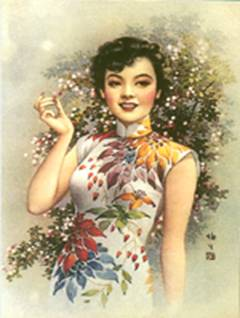 1920s lady in Qi Pao
