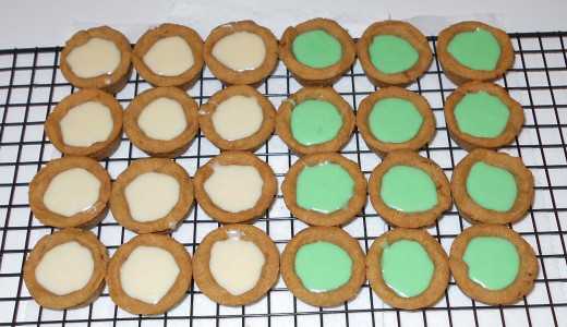 Half without food coloring and half with... both equally delicious!