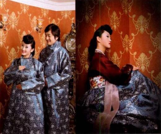 Movie star Harisu in her wedding hanbok