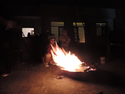 Campfire on the Terrace at The Retreat, Jalandhar