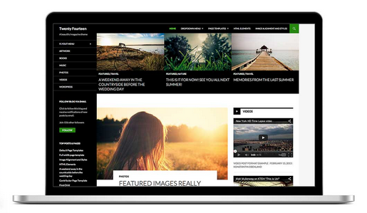 "An example of Free WordPress Theme ""Twenty Fourteen"""