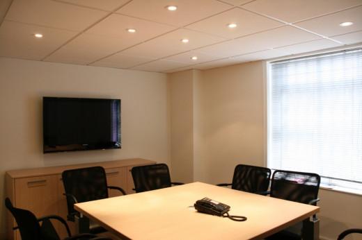 Meeting room with flatscreen TV