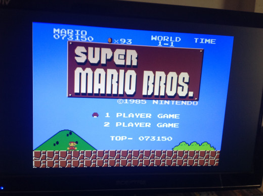 Super Mario bros title screen