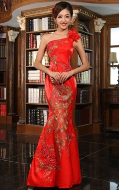 Western style with classic Chinese Embroidery