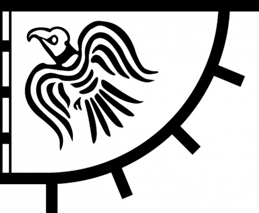 Hrafnsmerki - was Harald Sigurdsson's raven banner, similar to William's raven banner