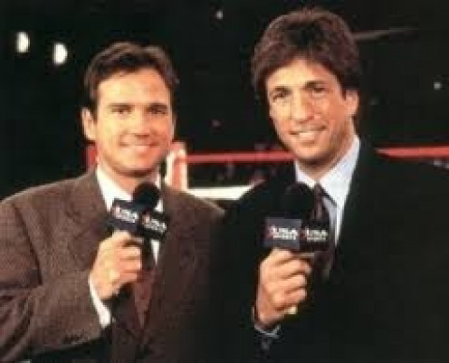 Sean O ' Grady and Al Albert made up the ringside broadcasting team. O' Grady is a former lightweight (135 pounds) world champion.