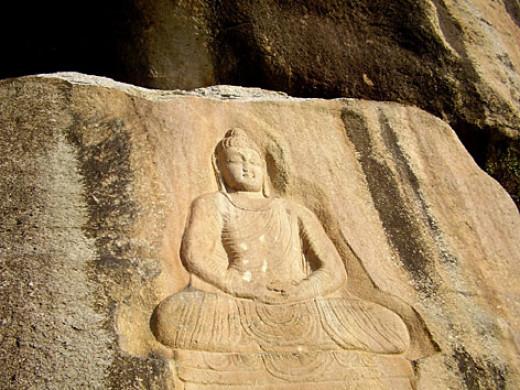 Engraving of Buddha