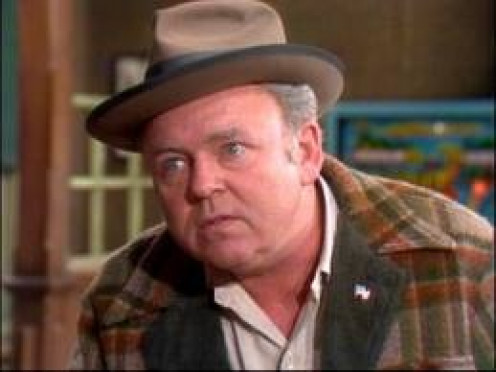 Archie Bunker (Carol O' Conner) played a bigot on All in the Family. Many of the shows dealt with issues like racism, sexism and politics.