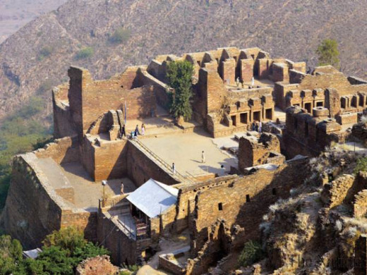 UNESCO's Heritage Site at Takht Bhai. The site has Buddhist remains of what was a monastery.