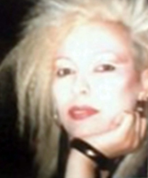 Me in my teens with a shock of blonde hair - quite a scary sight for a small, lost rabbit, I guess.