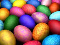 Easter Decor and Eggs